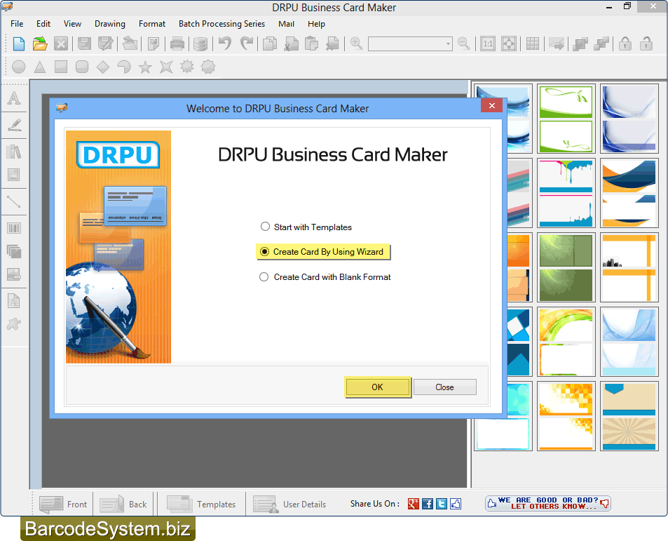 Design business cards visiting card maker software logo creator business card maker software colourmoves